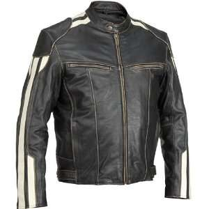 River Road Roadster Vintage Leather Motorcycle Jacket