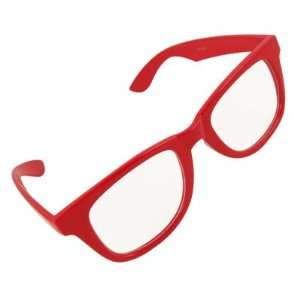 Broad Temple Full Rim Clear Lens Glasses for Lady