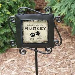 Pet Memorial Garden Stake Dog Cat Personalized Free