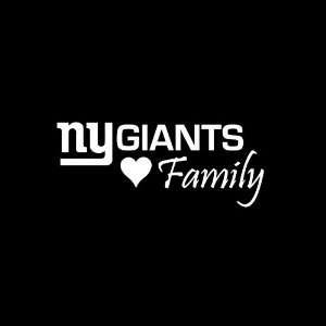 New York Giants Family Mini Car Window Decal Sticker White