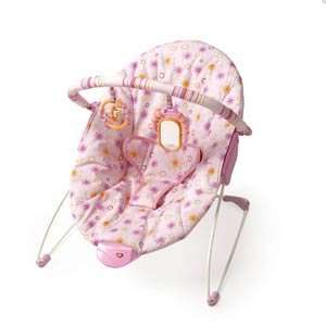 Bright Starts Delightful Daisy Pink Cradling Bouncer Baby