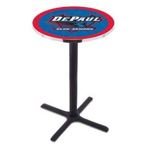 DePaul Counter Height Pub Table   Cross Legs   NCAA