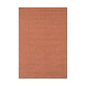 Saddle Stitch Indoor/Outdoor Rug 39X55   Terracotta