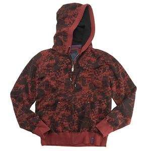 Fox Racing Wasteland Zip Hoody   Small/Red Automotive