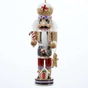 Pack of 12 Gingerbread Kisses Wooden Nutcracker Christmas Ornaments 5