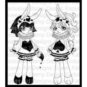 Painting Bunnies Unmounted Rubber Stamp Set Everything
