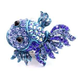 Blue Crystal Stones Blue Dragon Fish Sparkling Cocktail