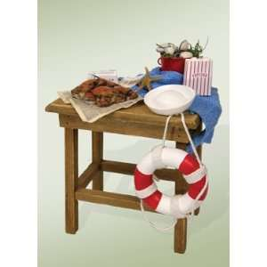 Byers Choice Carolers   Nautical Table