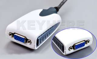 USB to VGA Adapter Extra Monitor Multi Display USB 2.0