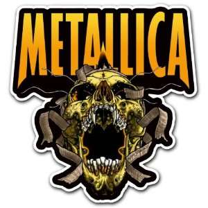 Metallica Skull Heavy Metal Band Car Bumper Sticker Decal