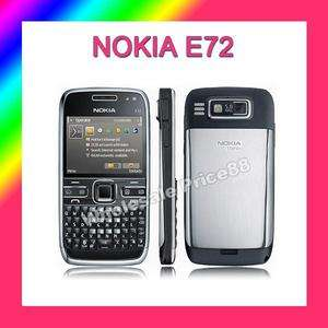 NEW NOKIA E72 BLACK UNLOCKED GSM QUADBAND PHONE 1 YEAR WARRANTY