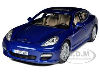 PORSCHE PANAMERA TURBO BLUE 1/18 DIECAST MODEL CAR BY MAISTO 36197