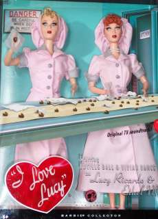 LOVE LUCY*LUCILLE BALL & ETHEL MERTZ BARBIES 2008