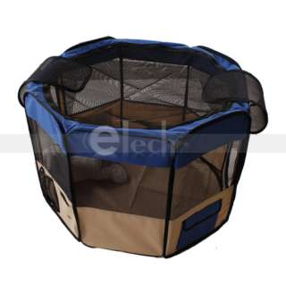 New 49 Pet Puppy Dog Cat Large Playpen Kennel Exercise Pen Crate BLUE