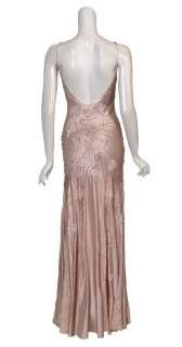 Romantic Silk SUE WONG Beaded Pink Dress Gown 10 NEW