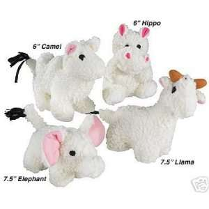 Zanies Fleecy Friends Set of 4 Adorable Dog Toys Kitchen