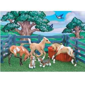 Breyer Horses Stablemates Puppies & Foals Play Set