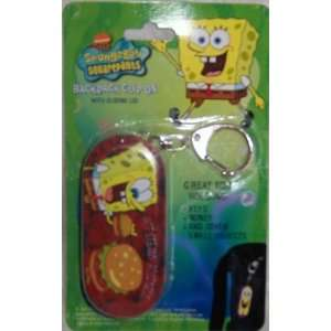 Spongebob Squarepants Backpack Clip on Mini Tin Box Brown