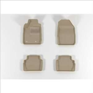 MAXpider Molded Beige Rubber Floor Mats 11 Ford Fiesta Automotive