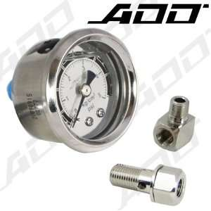 70 PSI Mechanical Liquid Filled Gauge Fuel Pressure Gauge Automotive
