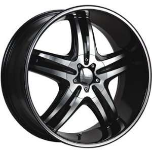 Cruiser Alloy Impulse 20x8.5 Machined Black Wheel / Rim 5x112 & 5x4.5