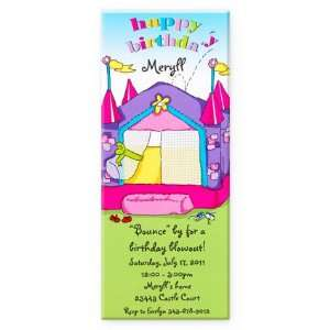 Princess Bouncy House Birthday Invitation Health