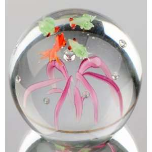 Sea Series   Tiny Gold Fish with Froggies Paperweight