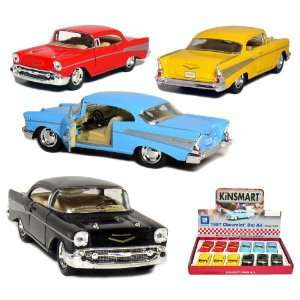 12 pcs in Box 5 1957 Chevy Bel Air Coupe 140 Scale