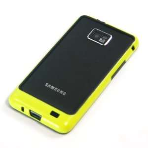 Black + Yellow / Plastic Bumper Case for Samsung Galaxy SII / S2