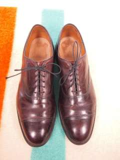Vintage ALLEN EDMONDS Park Avenue Burgundy Calfskin Captoe Shoe US 11