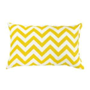 Greendale Home Fashions Rectangle Outdoor Accent Pillows, Yellow Zig