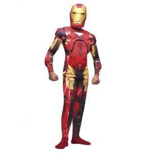 Deluxe Iron Man Muscle Dress Up Costume   3 5 years Toys & Games