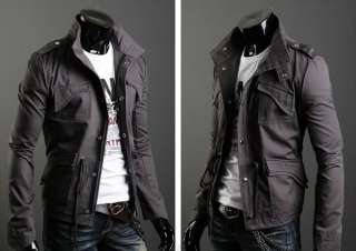 NEW Mens Casual Stylish Slim Trench Coat Jacket 3 Colour