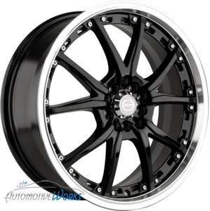 17 Edge Black Wheels Rims Inch Mercedes Audi 5x112