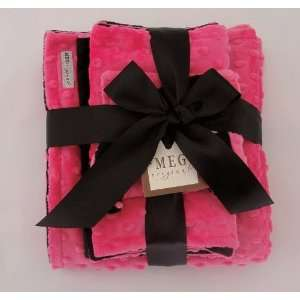 Hot Pink & Black Minky Gift Set Baby