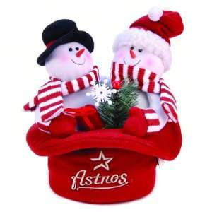 Houston Astros Snowmen Top Hat Table Christmas Decoration Home