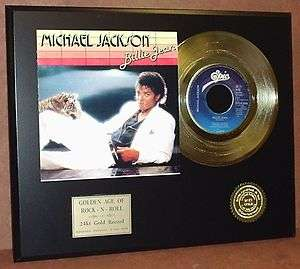 MICHAEL JACKSON GOLD 45 RECORD LIMITED EDTION DISPLAY