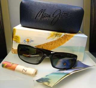 BRAND NEW MAUI JIM MJ 103 STINGRAY 02 BLACK SUNGLASSES