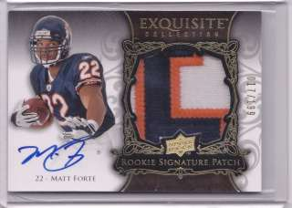 2008 EXQUISITE #152 MATT FORTE PATCH AUTO JERSEY 17/199