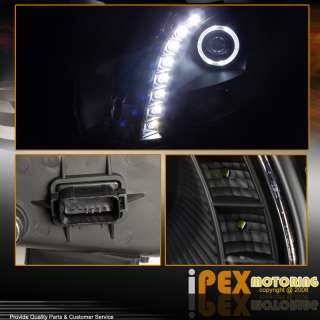 03 07 Cadillac CTS Matte BLACK Devil EyE Halo LED SMD Projector