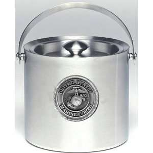 USMC Marine Corps 3 Liter Stainless Steel Ice Bucket with