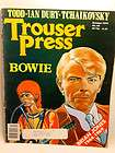 TROUSER PRESS Music Magazine Oct 1979 DAVID BOWIE Brian JONES Todd