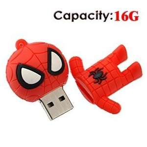16G Small Cartoon Spider Man Shape Rubber USB Flash Drive