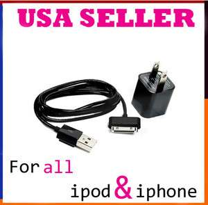 Plug Adapter Charger Cable Cord For iPod Touch iPhone 2G 3G 3GS 4G 4S