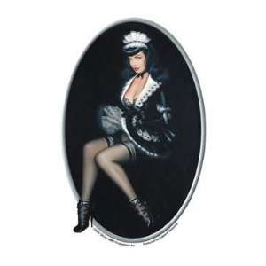 Olivia Deberardinis Sexy Maid Bettie Page Pinup Car