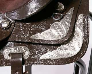 15 Dark Brown western New Leather pleasure Trail Show Saddle