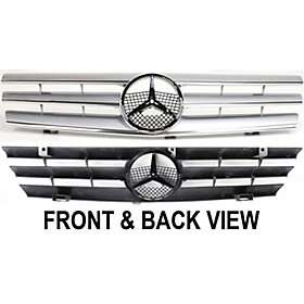 New Front Grille Insert Silver MB SL Class Mercedes Benz SL320 97 96