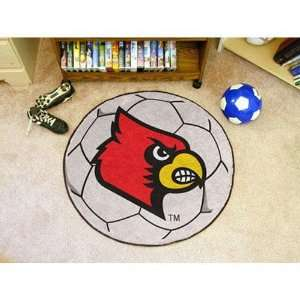 Louisville Cardinals NCAA Soccer Ball Round Floor Mat (29)