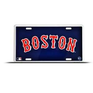 Boston Red Sox Mlb Metal Sport License Plate Wall Sign Tag Automotive