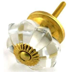 Glass Knobs with Polished Brass Hardware. Glass Knobs, Handles & Pulls